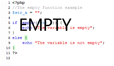 php not empty