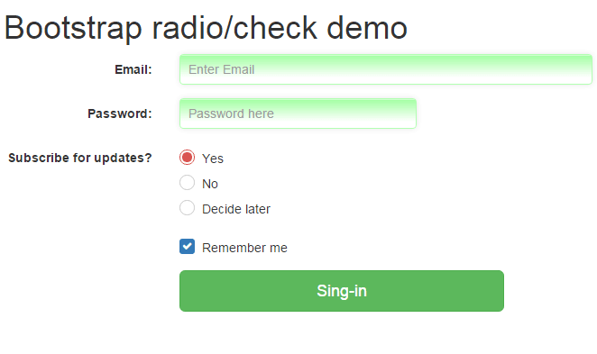 Bootstrap radio pretty