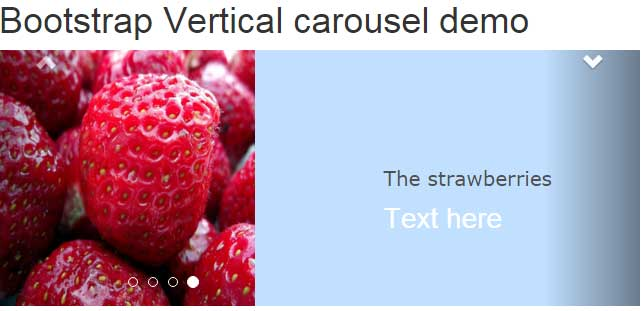 Bootstrap carousel: 7 slider demos with horizontal, vertical