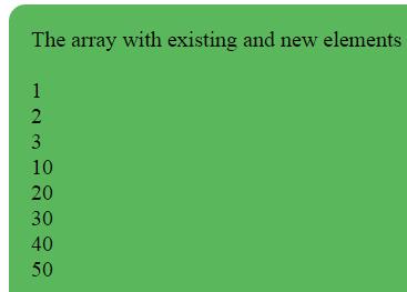 JavaScript array push