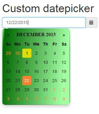 Bootstrap datepicker css3