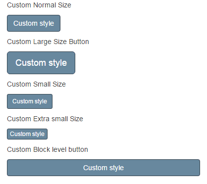 Bootstrap button custom color