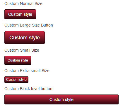 bootstrap button sizes