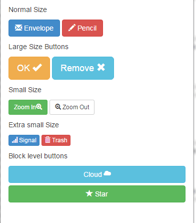 Bootstrap button icons
