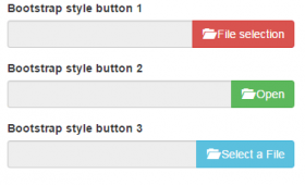 Bootstrap / jQuery input type file upload buttons: 6 Demos