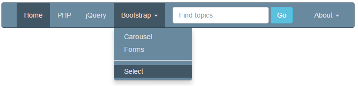7 customized bootstrap dropdown demos in menus navbar and for Bootstrap popover custom template