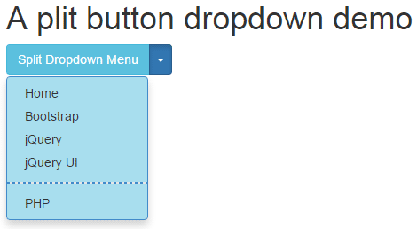 Bootstrap dropdown split button