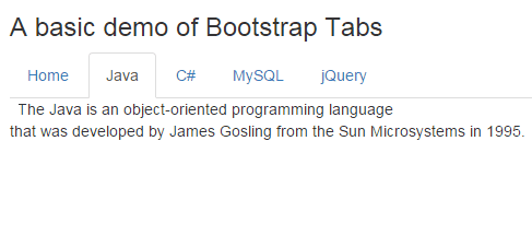 Bootstrap tabs basic
