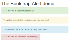 Bootstrap alert with 5 online demos