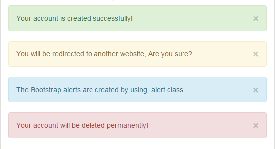 Bootstrap alert with 5 online demos
