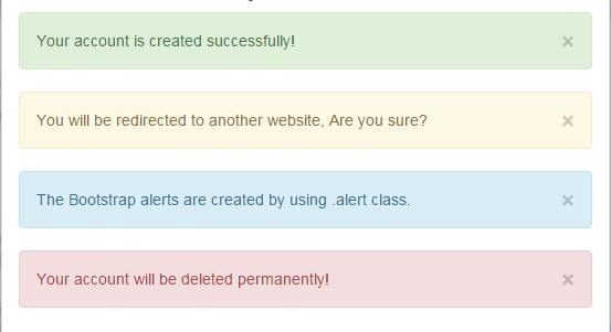 Bootstrap alert close