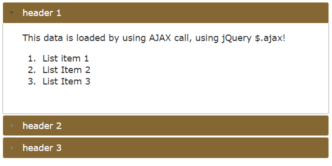 jQuery ajax accordion