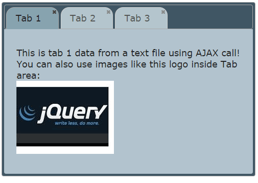 jQuery AJAX tutorial: 7 demos of div, form, tabs, accordion