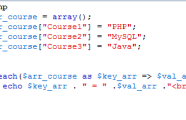 Php Array 9 Demos Of Simple And Usage With Html Elements