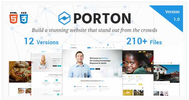Bootstrap tempelate PORTON