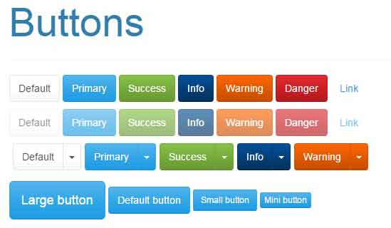 Bootstrap tempelate button