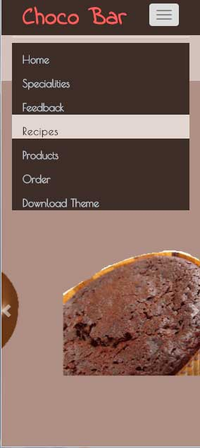 Bootstrap choco-bar responsive