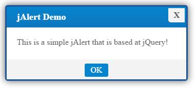 jQuery alert jAlert basic