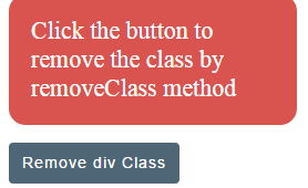 4 examples to use jQuery removeClass with Bootstrap table, div and others