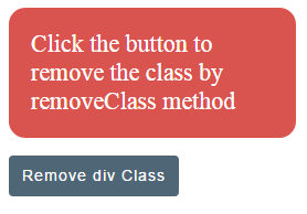 jQuery removeClass div