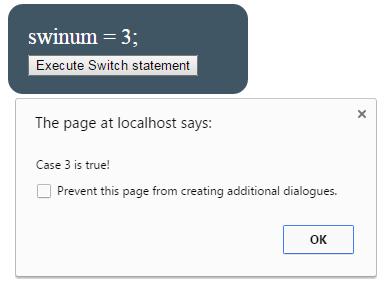 JavaScript switch numeric