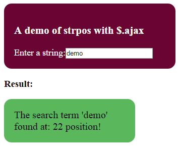 php search string