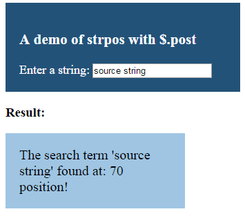 PHP strpos post
