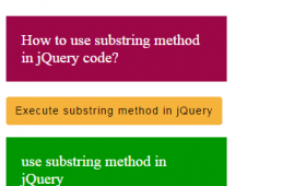 Getting substring in jQuery by substring and substr methods