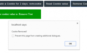 How to create, read and remove jQuery cookies: with 3 demos