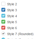 How to create and style HTML checkbox with pure CSS and a plug-in
