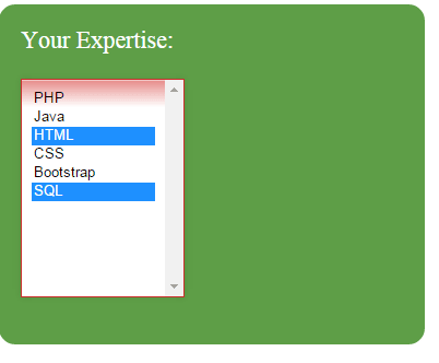 how to create dropdown in html