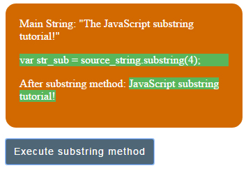 JavaScript substring start index