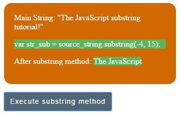 JavaScript substring negative index