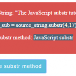 JavaScript substring and substr methods to get substrings with 7 demos