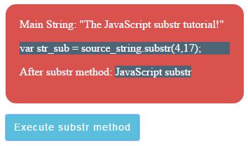 JavaScript substr