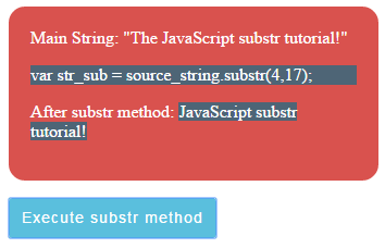 JavaScript substr index only