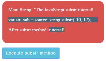 JavaScript substr negative