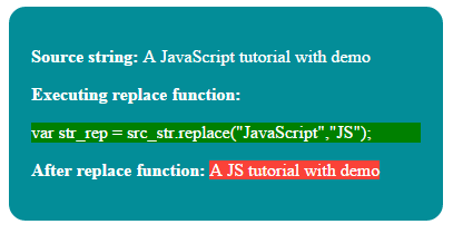 JavaScript replace
