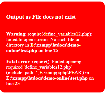 PHP require fatal error