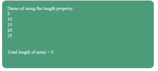 JavaScript length property