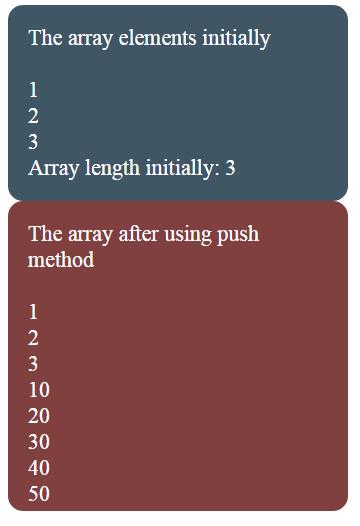 JavaScript push