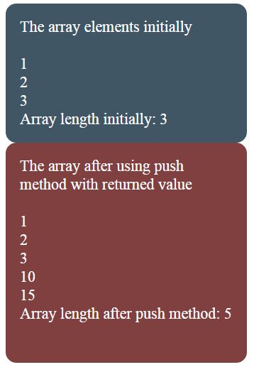 JavaScript array push