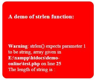 length string php