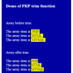 PHP trim function for removing spaces: 5 demos