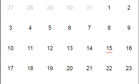 JavaScript date: A pure JS date picker – datepickk with demos