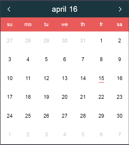 Monthly Calendar Using Javascript : Javascript date a pure js picker datepickk with demos