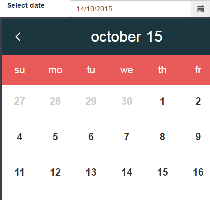 JavaScript datepicker icon