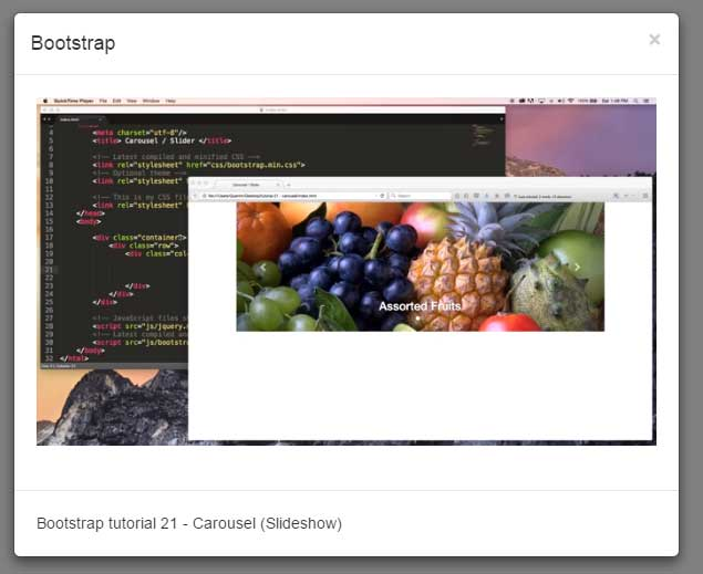 Bootstrap lightbox video