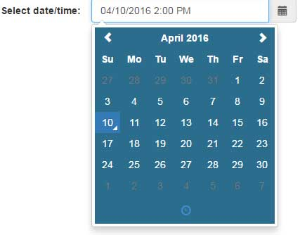 Bootstrap datetime picker custom CSS