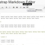 A jQuery based Bootstrap markdown text editor